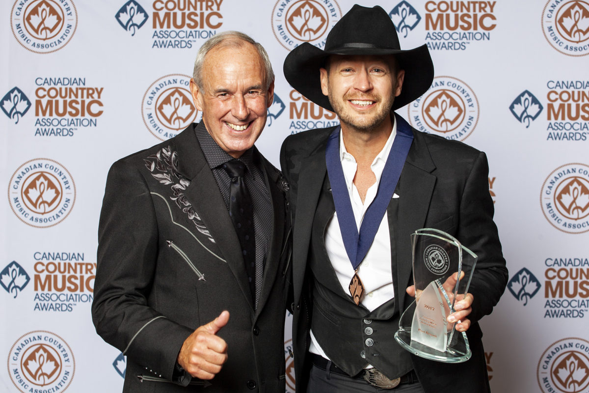 Paul Brandt and Ron MacLean for the Canadian Country Music Awards