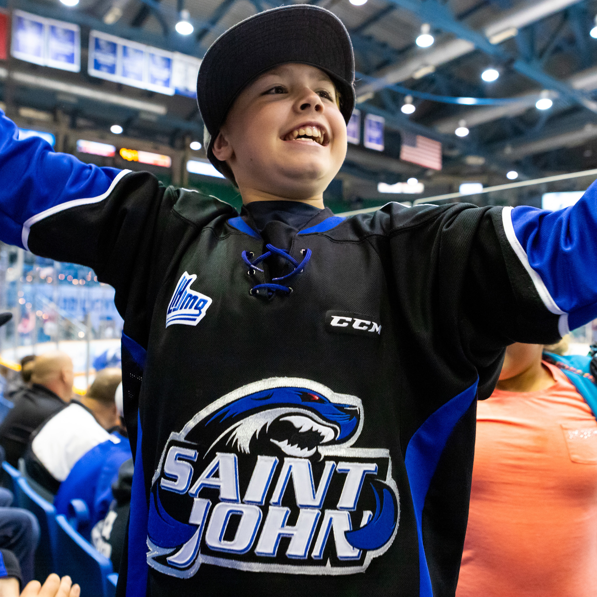 A Sea Dogs Fan Celebrates